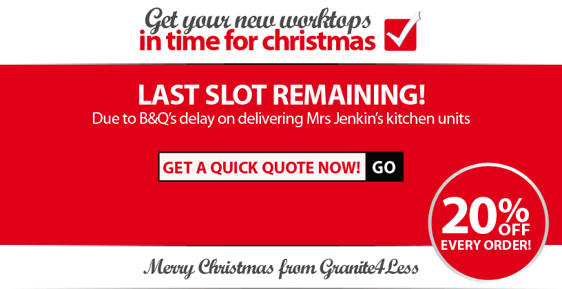 Enquire now to guarantee your worktops for Christmas